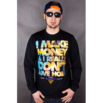 LONGSLEEVE EL POLAKO I MAKE MONEY CZARNY 4314
