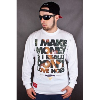 LONGSLEEVE EL POLAKO I MAKE MONEY BIAŁY 4499