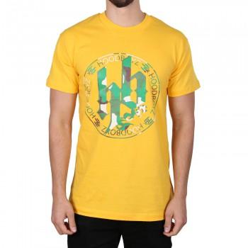 Hoodboyz Camouflage Logo Koszulka ?żółty