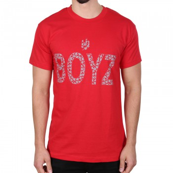 Hoodboyz Bandana Style Koszulka czerwony