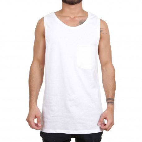 Ablanche Basic Pocket Koszulka na szelkach biały