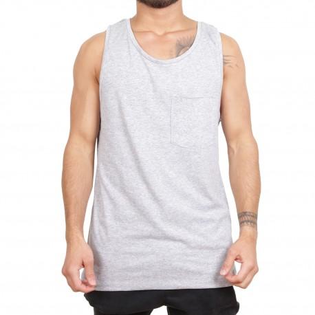 Ablanche Basic Pocket Koszulka na szelkach szary