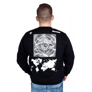 BLUZA CREWNECK EL POLAKO CIRCLE WORLD CZARNA