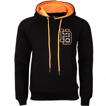 Hoodboyz Bluzy z kapturem czarny jasny pomarańczowy