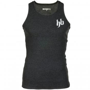 Hoodboyz Basic Logo Koszulka na szelkach srebny