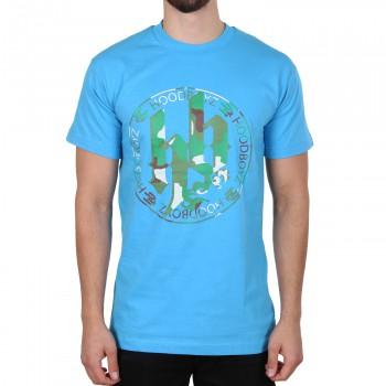 Hoodboyz Camouflage Logo Koszulka turkusowy