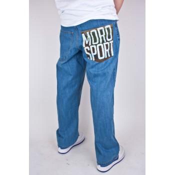 Spodnie Jeans Moro Sport Baggy Jasne Niebieskie