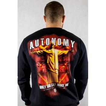 Bluza Street Autonomy Only God czarna
