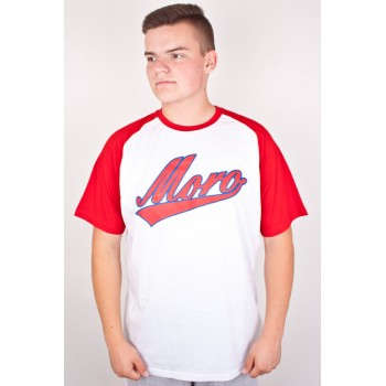 T-SHIRT MORO SPORT BASEBALL ACADEMIC WHITE RED