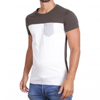 Hoodboyz Koszulka biały oliwkowy