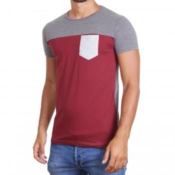 Hoodboyz Koszulka ciemny czerwony ciemny szary