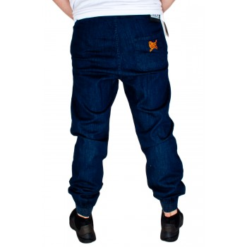 SPODNIE SSG JOGGER REGULAR GUMA TAG DARK BLUE