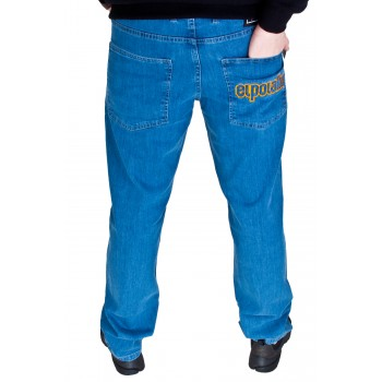 SPODNIE JEANS EL POLAKO REGULAR OUTLINE JASNE