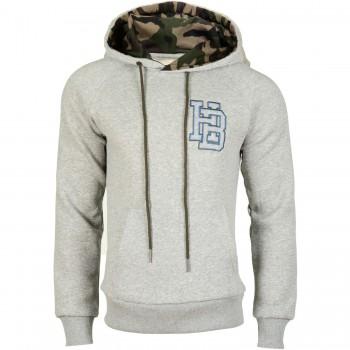 Hoodboyz Bluzy z kapturem szary camouflage