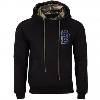 Hoodboyz Bluzy z kapturem czarny camouflage